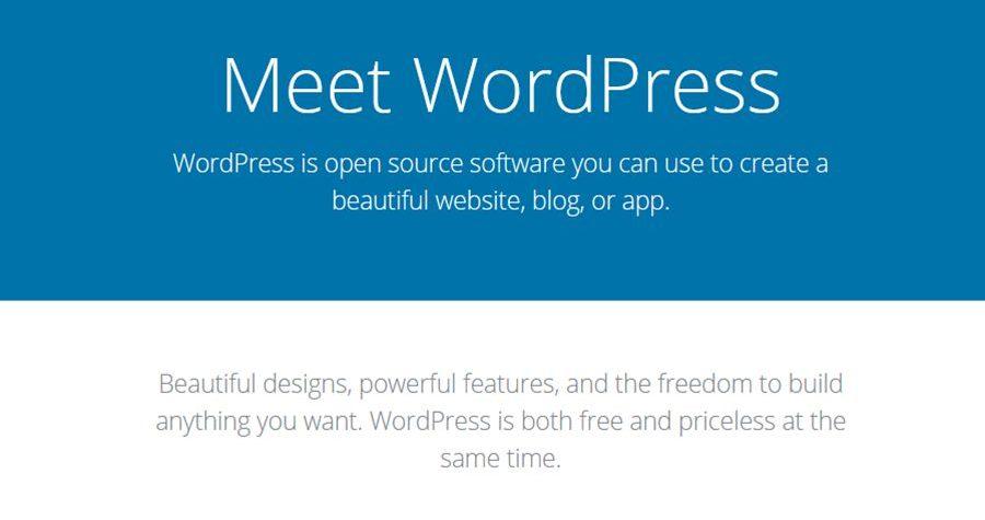 What is wordpress? is it free