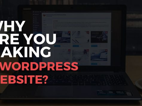 why are you making wordpress website quote infront of laptop