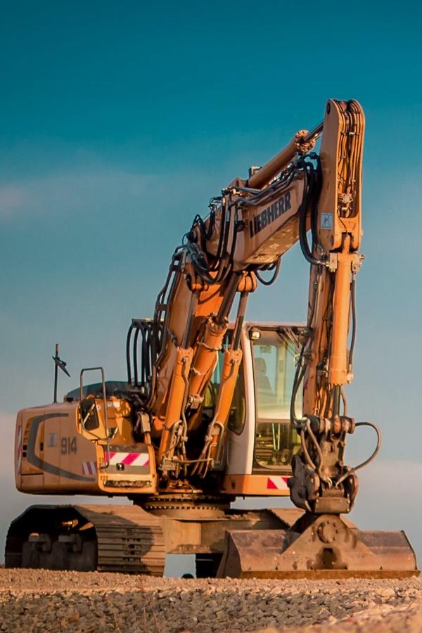excavator in mine