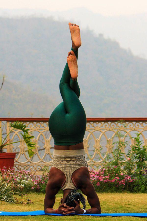 Upside down Yoga practice