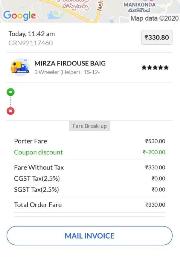 Discount coupon code porter