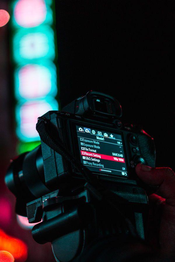 Camera LED display