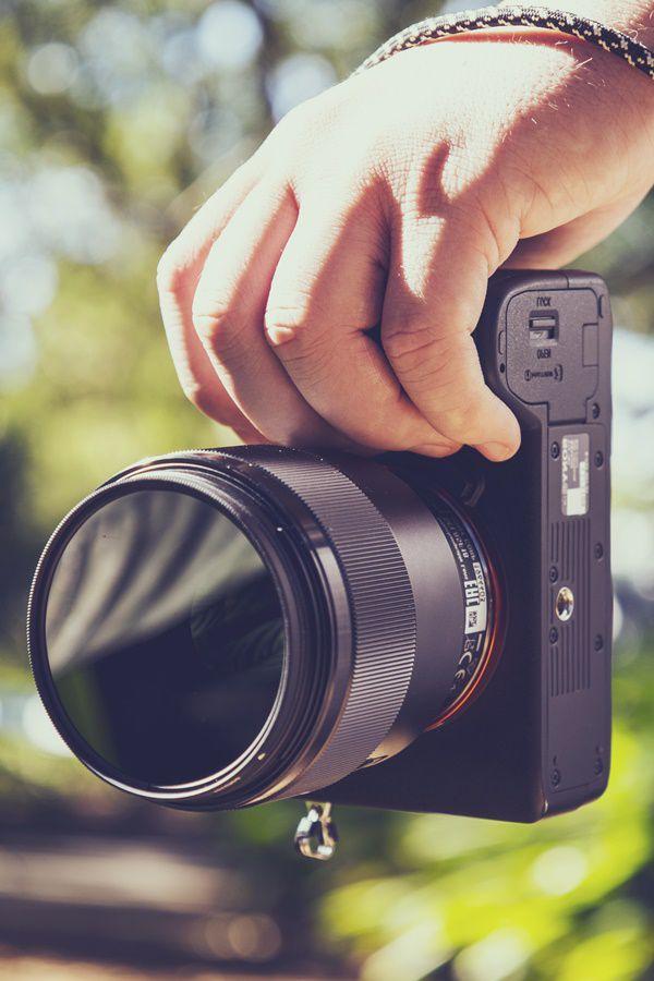 Thin Sony mirrorless camera